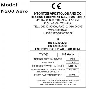 Air heaters Energy Stoves Ν200aero thumb